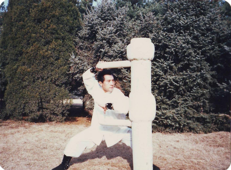 1.以独有的心仪,展现少林五形八法拳,拳禅一体、内外合一、神形兼备、以实战为本的特有韵律。  2.少林大金刚拳拳势古朴、劲道险绝、势如破竹、精到简俊,具有很好的学术研究价值。  3.三十年前,北京大学武术协会成立,其宗旨是:让中国传统武术步入大学的校门,赋予其新的、科学的生命。图为与著名武术家,周遵佛、吴图南、马礼堂、李子鸣先生合影于北京大学主楼前。秦庆丰老师时任教练组组长。  4.